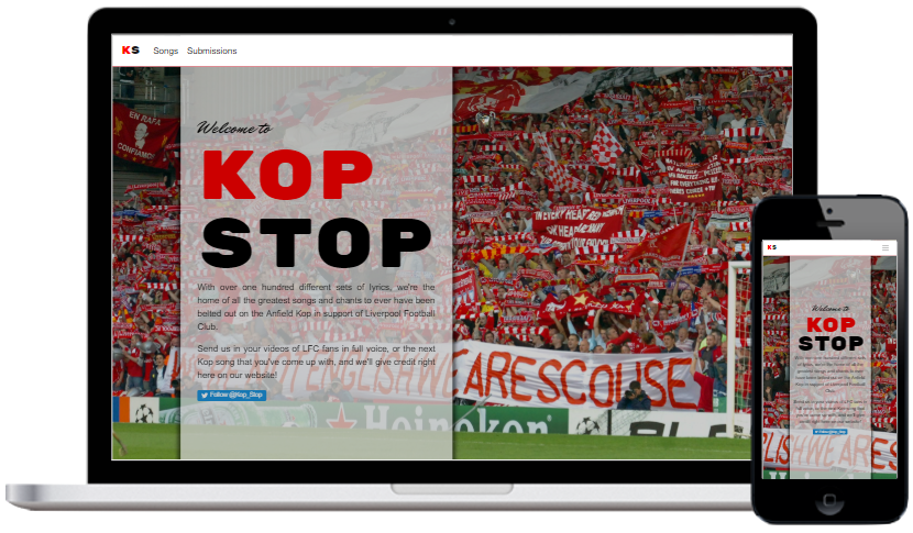 Kop Stop on laptop and mobile